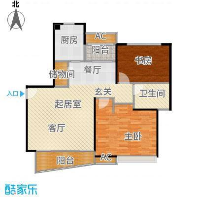 大唐盛世花园三期90.00㎡房型: 二房; 面积段: 90 -100 平方米; 户型