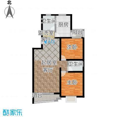 昕泰苑95.00㎡房型: 二房; 面积段: 95 -111 平方米;户型