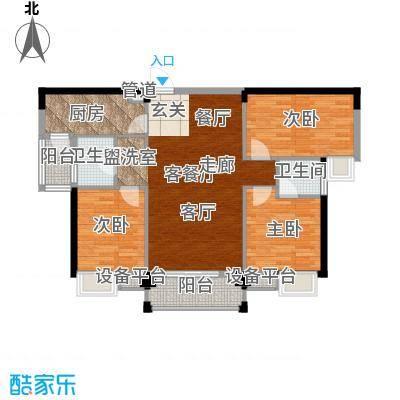 东城国际123.80㎡1号楼A户型