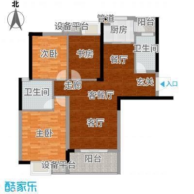 东城国际123.09㎡1号楼B户型