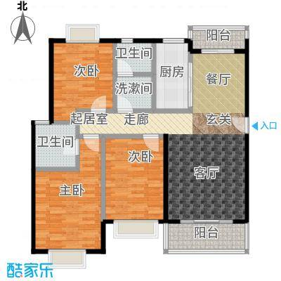 日月新殿113.00㎡房型: 三房; 面积段: 113 -149 平方米;户型