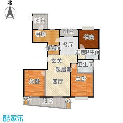 浦东虹桥公寓二期140.00㎡房型: 三房; 面积段: 140 -160 平方米; 户型