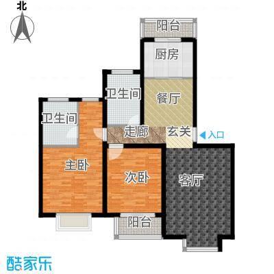 金桥新城二期94.04㎡房型: 二房; 面积段: 94.04 -116.48 平方米; 户型