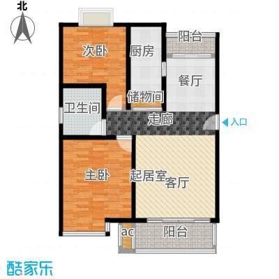 上南雅筑90.00㎡房型: 二房; 面积段: 90 -100 平方米;户型