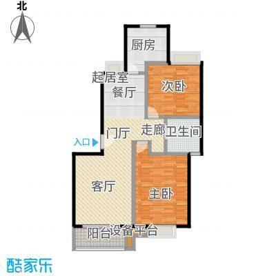 新都花园二期96.00㎡房型: 二房; 面积段: 96 -100 平方米; 户型