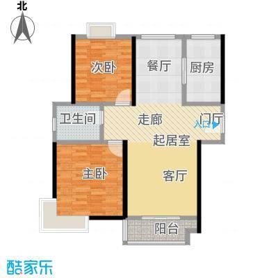 东方听潮豪园89.43㎡29、31、35、37号03户型2室1卫1厨