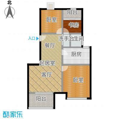 绿地芳满庭J-2公寓户型1室1卫1厨