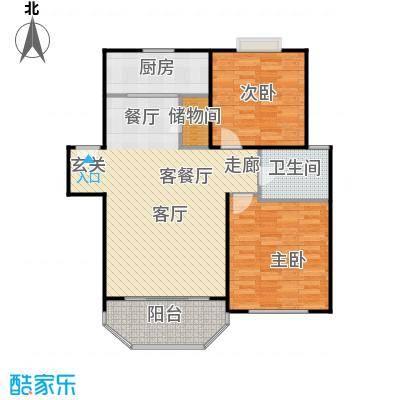 华亭荣园一期房型: 二房; 面积段: 90 -92 平方米; 户型