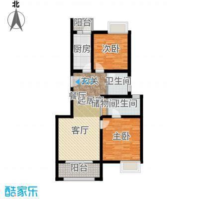 中信泰富朱家角新城A2户型2室2卫1厨