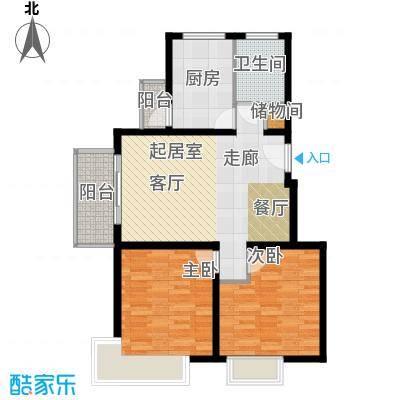 中信泰富朱家角新城5层A1c户型2室1卫1厨