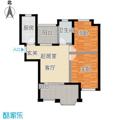 恒文星尚湾A4户型2室1卫1厨