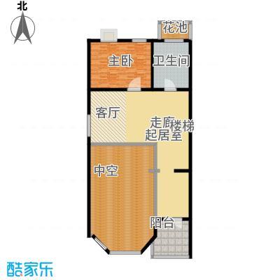 金水湾贵园三期C型的夹层平面图261.36-261.72平方米户型
