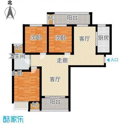 建业桂园114.32㎡A户型