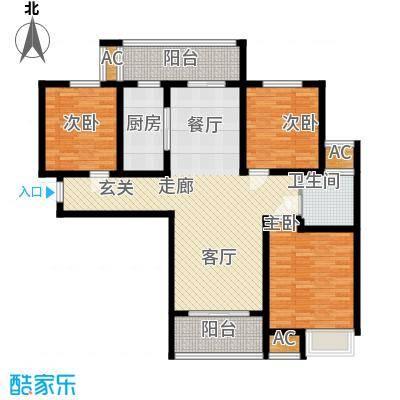 建业桂园114.54㎡B户型