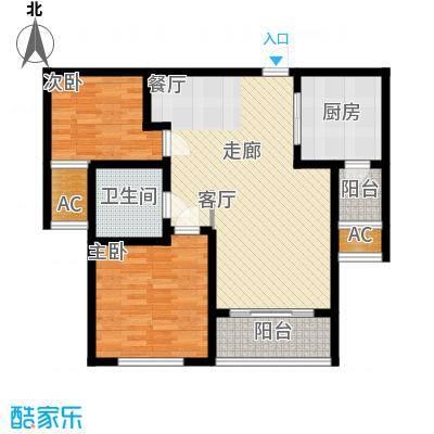 建业桂园86.21㎡C户型