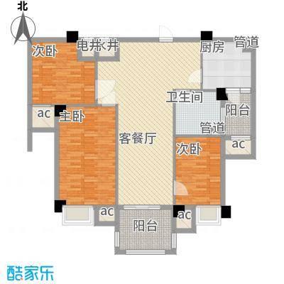 安阳碧桂园88.00㎡花园电梯洋房88m²户型