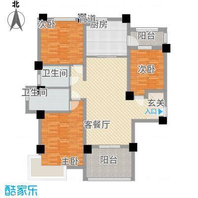 安阳碧桂园125.00㎡花园电梯洋房125m²户型