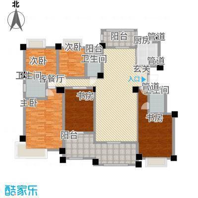 安阳碧桂园184.00㎡花园电梯洋房184m²户型