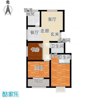 景圣湄河公寓124.00㎡D2户型