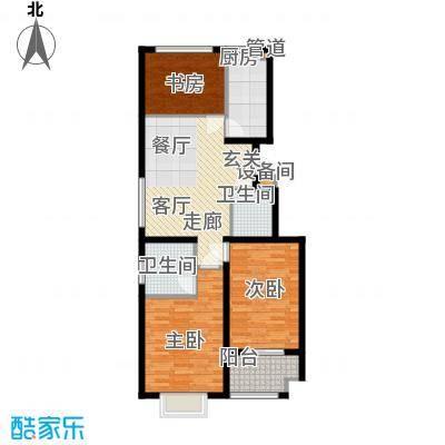 景圣湄河公寓108.40㎡C1户型