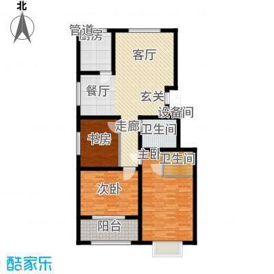 景圣湄河公寓121.00㎡D1户型
