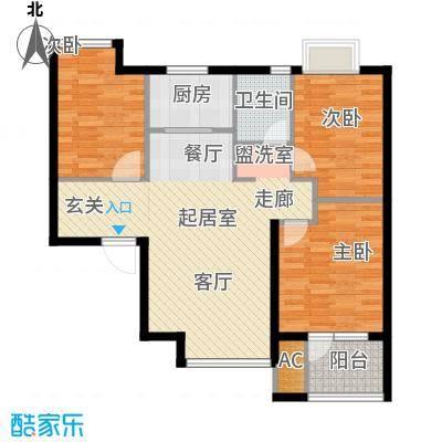 荣盛阳光逸墅89.30㎡9、10号楼A户型