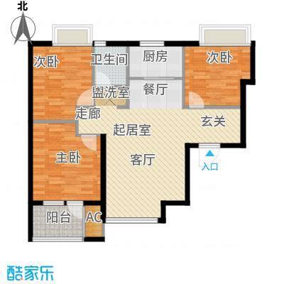 荣盛阳光逸墅89.80㎡9、10号楼C户型