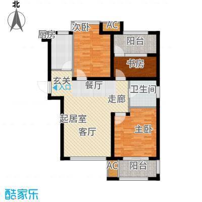 荣盛阳光逸墅92.71㎡1、2号楼A户型