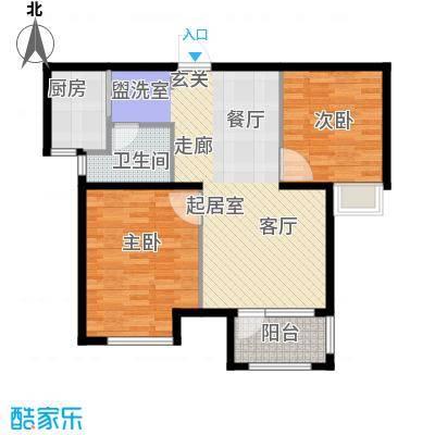 荣盛阳光逸墅78.33㎡3、8号楼B户型