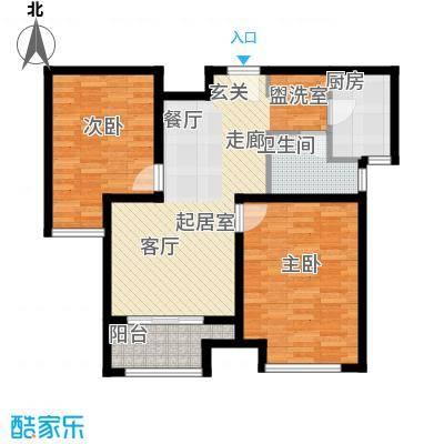 荣盛阳光逸墅81.16㎡5、7号楼B户型