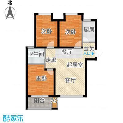 荣盛阳光逸墅91.20㎡5、7号楼C户型