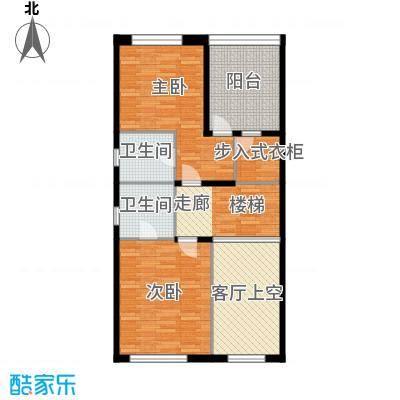 佳兆业珊瑚湾别墅213.44㎡联排A-2三层户型2室2卫
