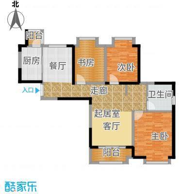 苏宁荣悦A3户型3室1卫1厨