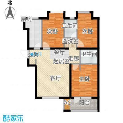 荣盛阳光逸墅101.32㎡5、7号楼D户型