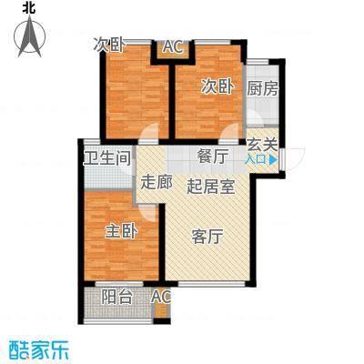 荣盛阳光逸墅92.65㎡1、2号楼C户型