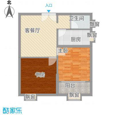 当代国际广场79.00㎡中央mini公寓E户型