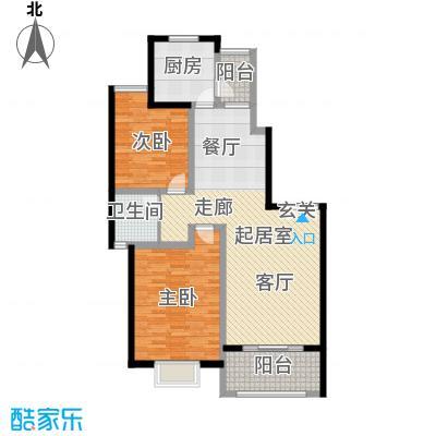 上海一家人楼盘F2户型2室1卫1厨