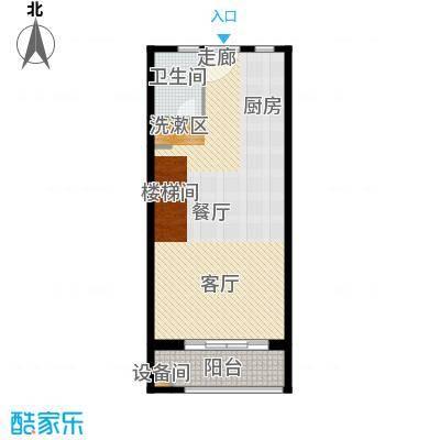 当代国际广场82.00㎡时尚办公loft3#楼下户型