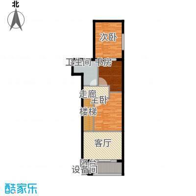当代国际广场82.00㎡时尚办公loft3#楼上户型