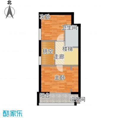 当代国际广场86.00㎡时尚办公loft3#楼上户型