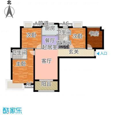 东方今典中央城134.49㎡二期5、6号楼住宅D户型