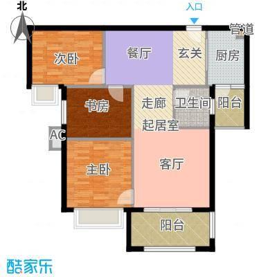 东方今典中央城112.73㎡二期5、6号楼住宅D户型