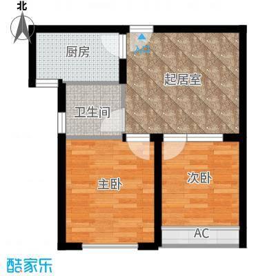 东方今典中央城56.79㎡一期1号楼公寓B户型