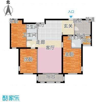 三川御锦台134.64㎡B1户型