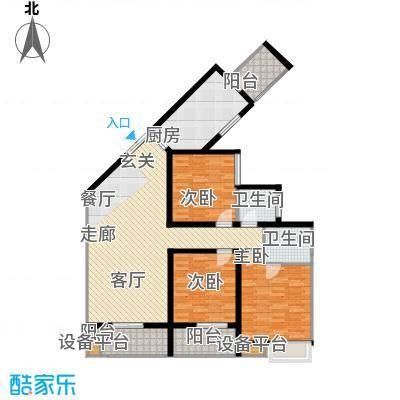 楚汉汇景国际123.97㎡B户型