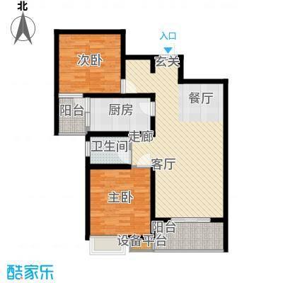 楚汉汇景国际88.56㎡E户型