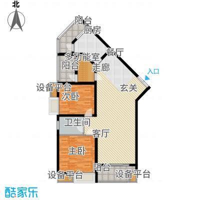 楚汉汇景国际122.62㎡A户型