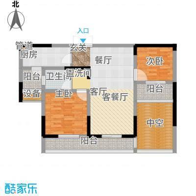 建业凯旋广场89.22㎡B-2户型