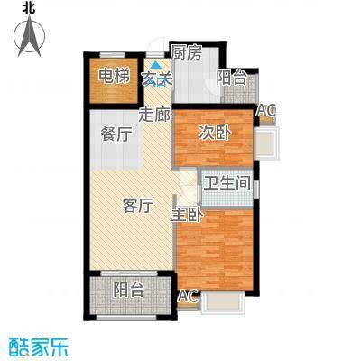 龙光阳光海岸86.43㎡龙光・阳光海岸5栋2单元022室户型