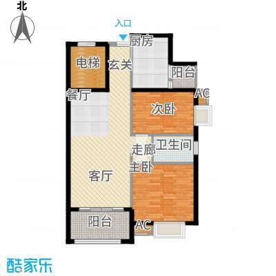 龙光阳光海岸87.00㎡龙光・阳光海岸3#1单元022室户型
